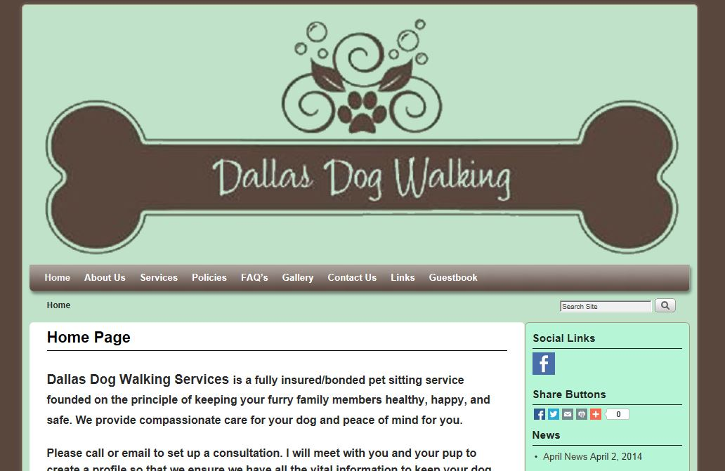 Dallas dog walking